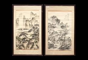 Pareja de dibujos chinos