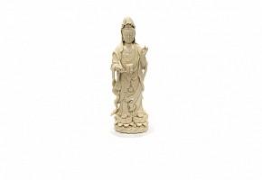 Gran Guanyin chino de porcelana