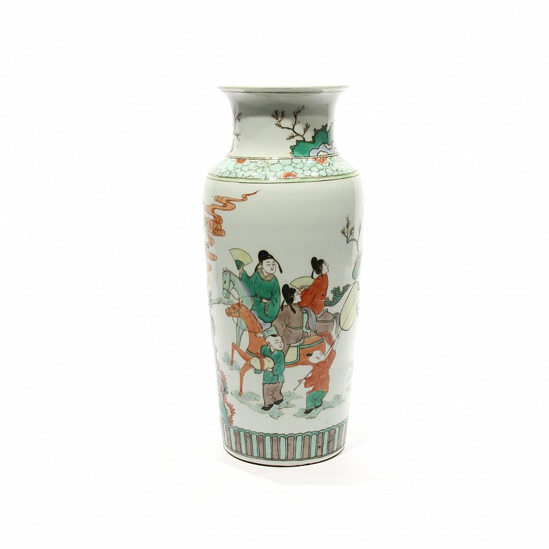 A Chinese famille-verte porcelain
