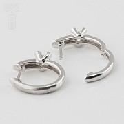 18K白金镶钻石耳环 - 3