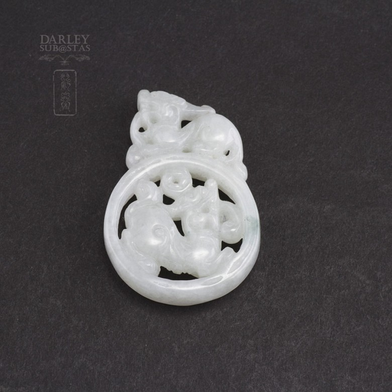 Pieza de nefrita jade blanco - 3