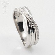 Beautiful ring 18k white gold and diamonds 0.14cts - 1
