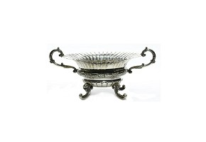 Silver fruit bowl, 20th century