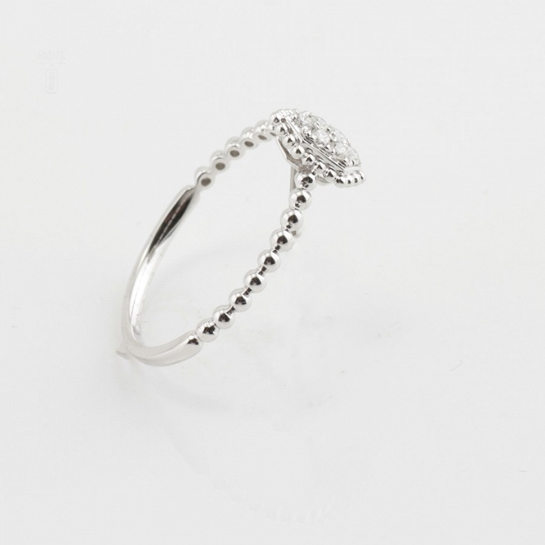 Bonito anillo oro blanco 18k y diamantes 0.09cts - 2