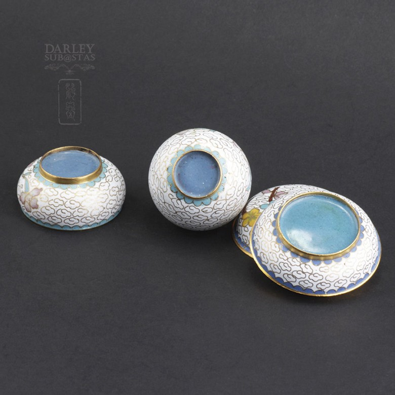 Three nice pieces of cloisonne - 4