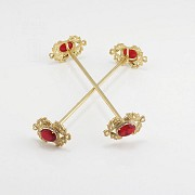 Faller dressing Ruby red and gold - 5
