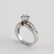 Ring in sterling silver, 925m / m, with zircons - 2