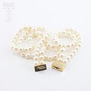 日本海珠挂玉牌镶红宝钻石项链 - 3
