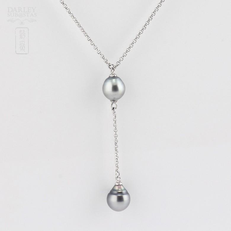 Collar con perlas Tahití en plata 925 - 1