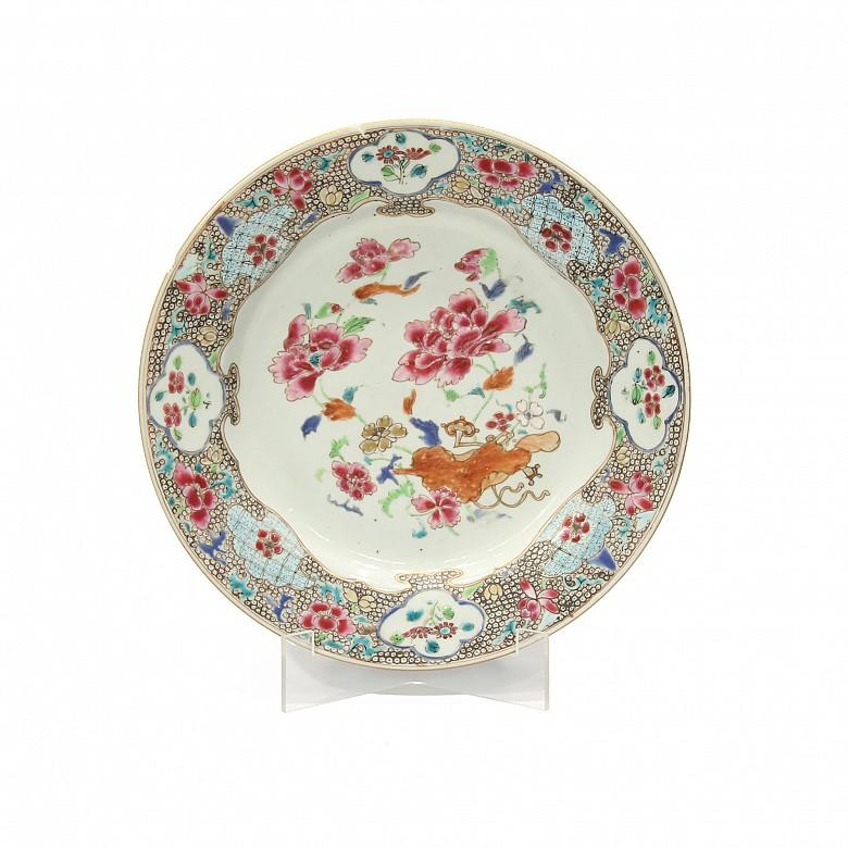 Plato de porcelana china, s.XVIII