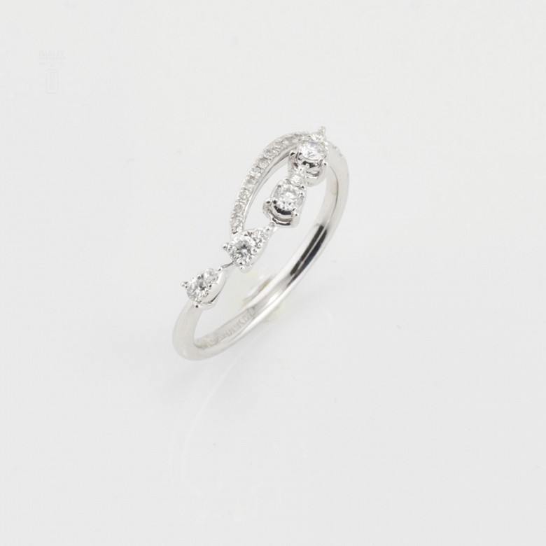 Original ring in 18k white gold and diamonds 0.29cts - 3