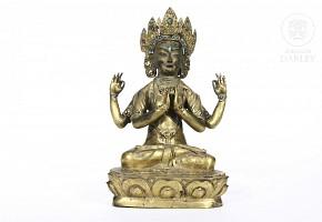 A bronze figure of