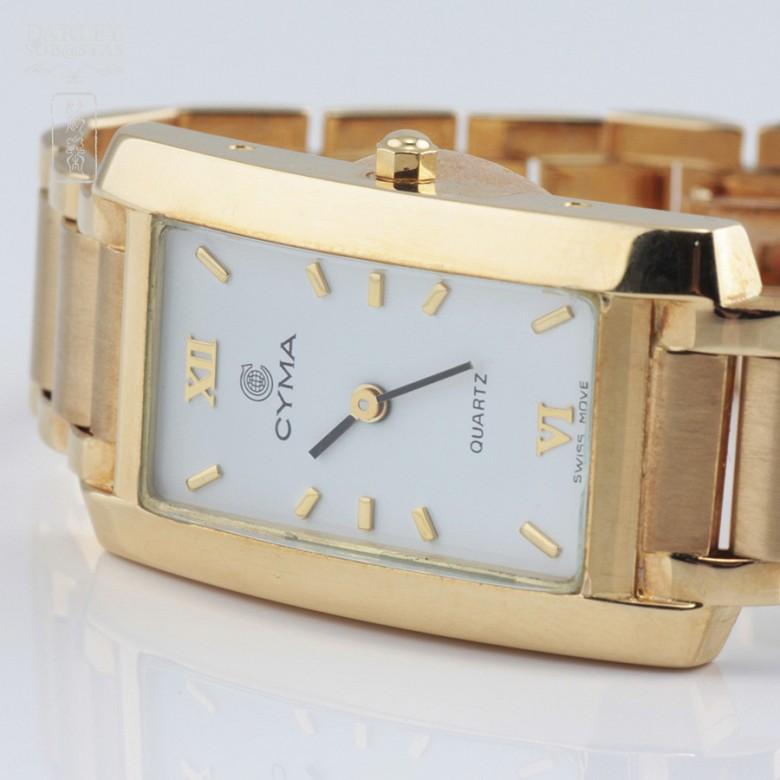 Gold Swiss Watch Cyma - 2
