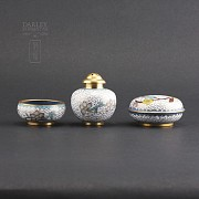 Three nice pieces of cloisonne