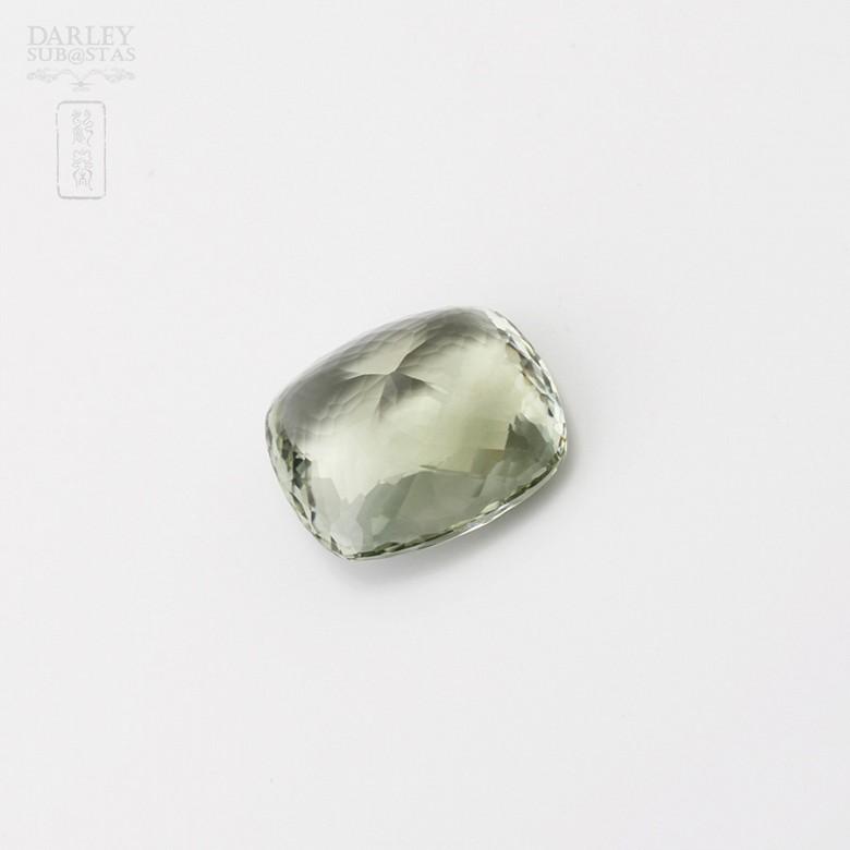 Amatista 38,40 cts de color verde olivo intenso en talla cojín facetada - 2