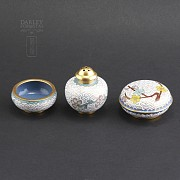 Three nice pieces of cloisonne - 1