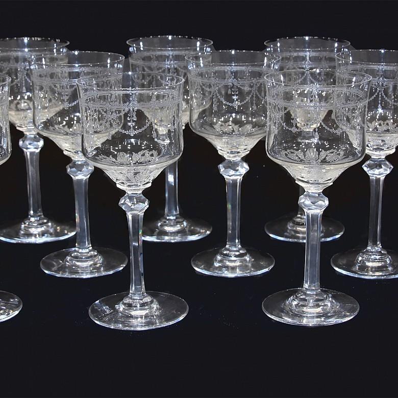 Cristalería de Bohemia, cristal tallado, s.XX