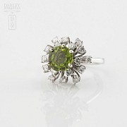 Peridot and Diamond Ring - 1