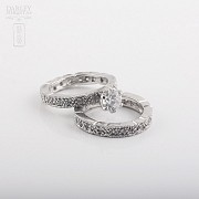 Ring in sterling silver cubic zirconia, 925m / m - 1