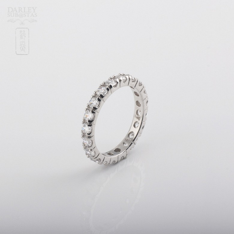 925银配圆晶石戒指 - 3