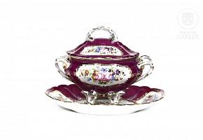 Limoges porcelain saucepan, 20th century