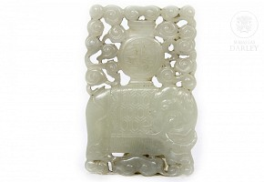 Carved jade plate, Qing Dynasty.