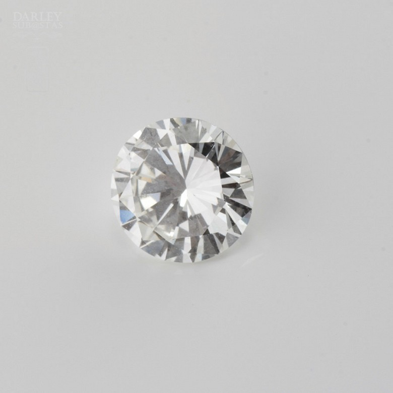 Diamante natural, talla brillante, color G, pureza VVS2, de peso  1.11 cts , - 1