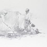Conrado Meseguer Munoz 3 Lithographs 版画 - 9