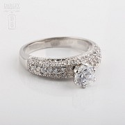 Ring in sterling silver, 925m / m, with rhodium. - 3