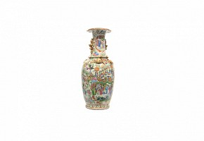Jarrón de porcelana china de Cantón, s.XX