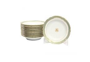 Set of eleven deep plates, Sèvres, s.XX