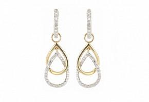Pendientes en oro amarillo de 18k y diamantes