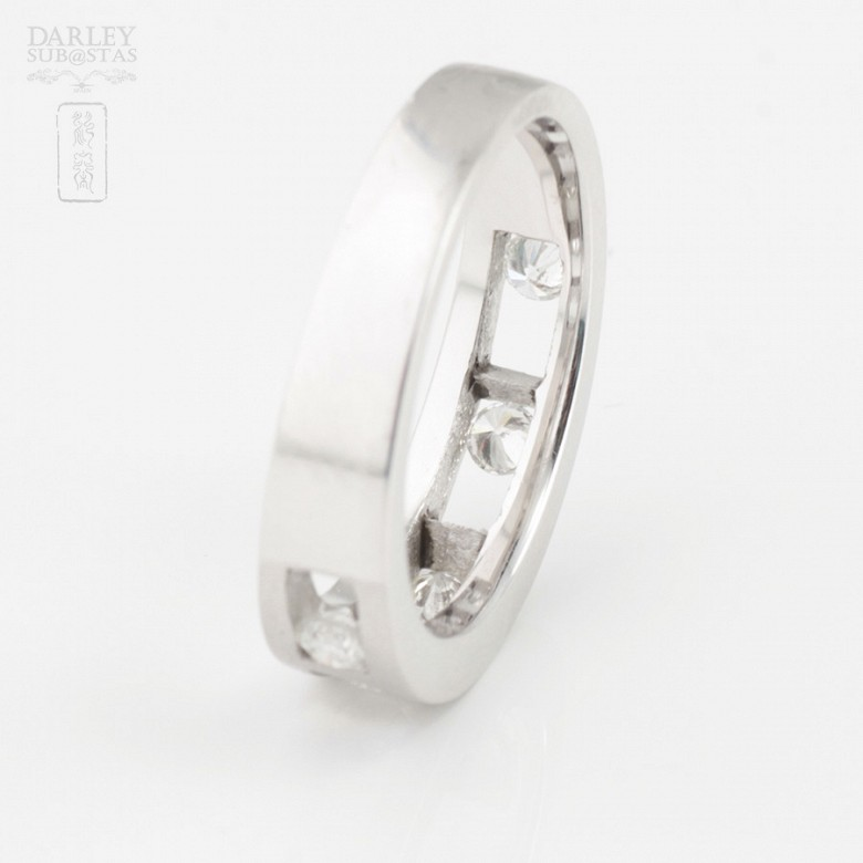 Original ring 18k white gold and diamonds 0.35cts - 3