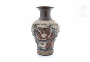 Yixing porcelain vase, 20th century