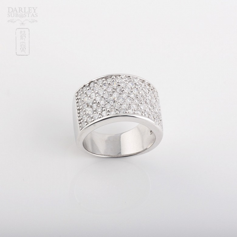 Ring with Zirconiain sterling silver, 925