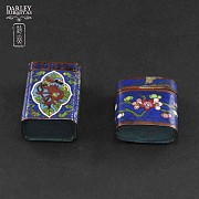 Chinese Cloisonne precious little boxes - 1