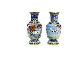 Pareja de jarrones de bronce, China, s.XX