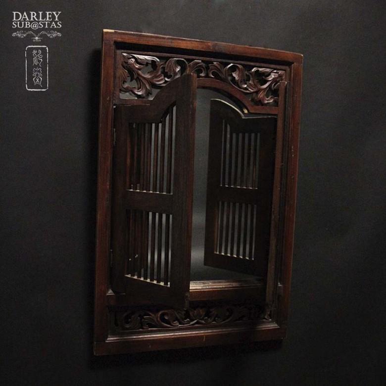 tahilandesa window marquetry with mirror - 3