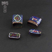 Chinese Cloisonne precious little boxes - 2