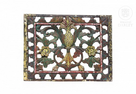 Placa decorativa de madera, Indonesia, pps.s.XX