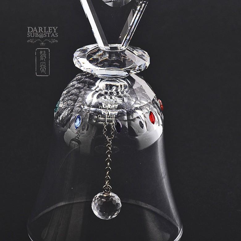 Set of two figures in Swarovski crystal, two bells - 4