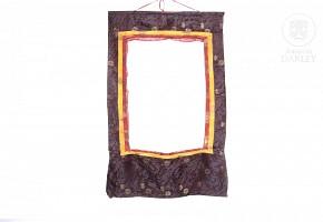 Silk Thangka frame.