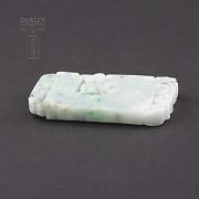 Preciosa Jadeíta natural colgante tallado - 4
