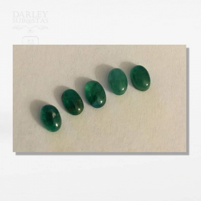 一组五颗巴西祖母綠 - 1