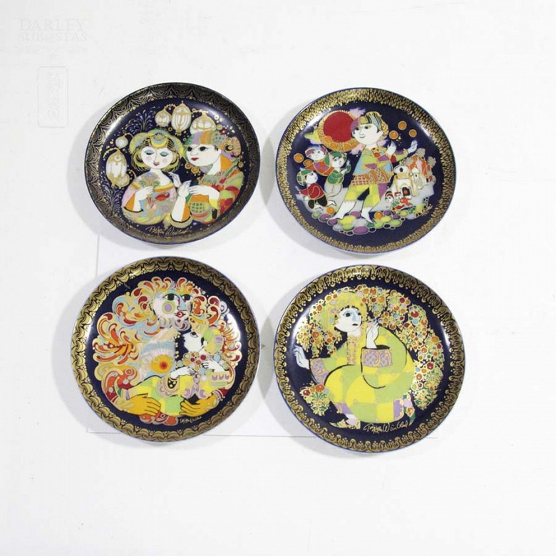 Four Rosenthal porcelain plates, 20th century - 1