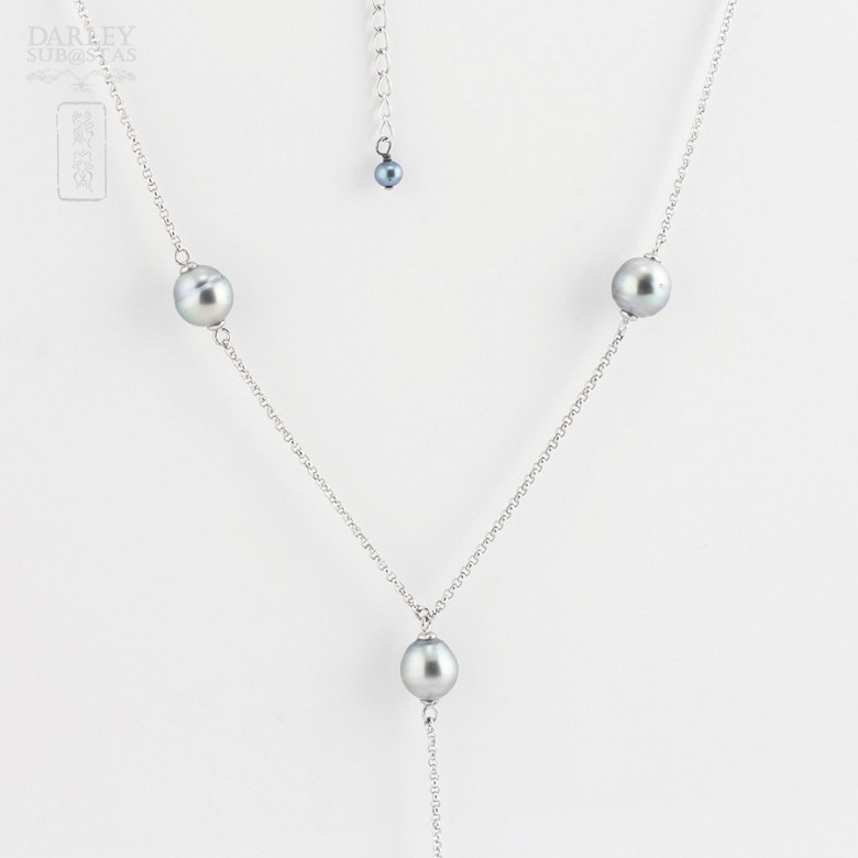 necklace with Tahitian pearl  in 925 silver - 2