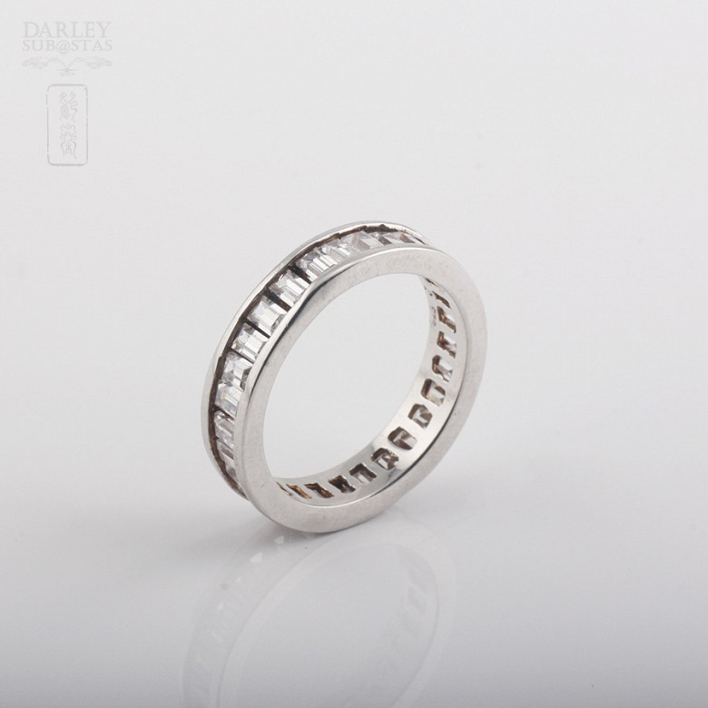 Ring with Zirconia in sterling silver, 925