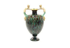 Enameled ceramic amphora, Minton & Co., 1836-1904