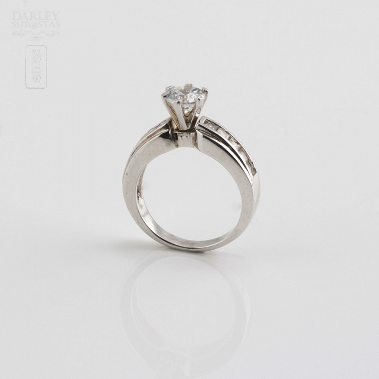 Ring in sterling silver, 925m / m, with zircons - 1