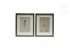 Manuel Del Arco (1909-1971) Pair of illustrations.